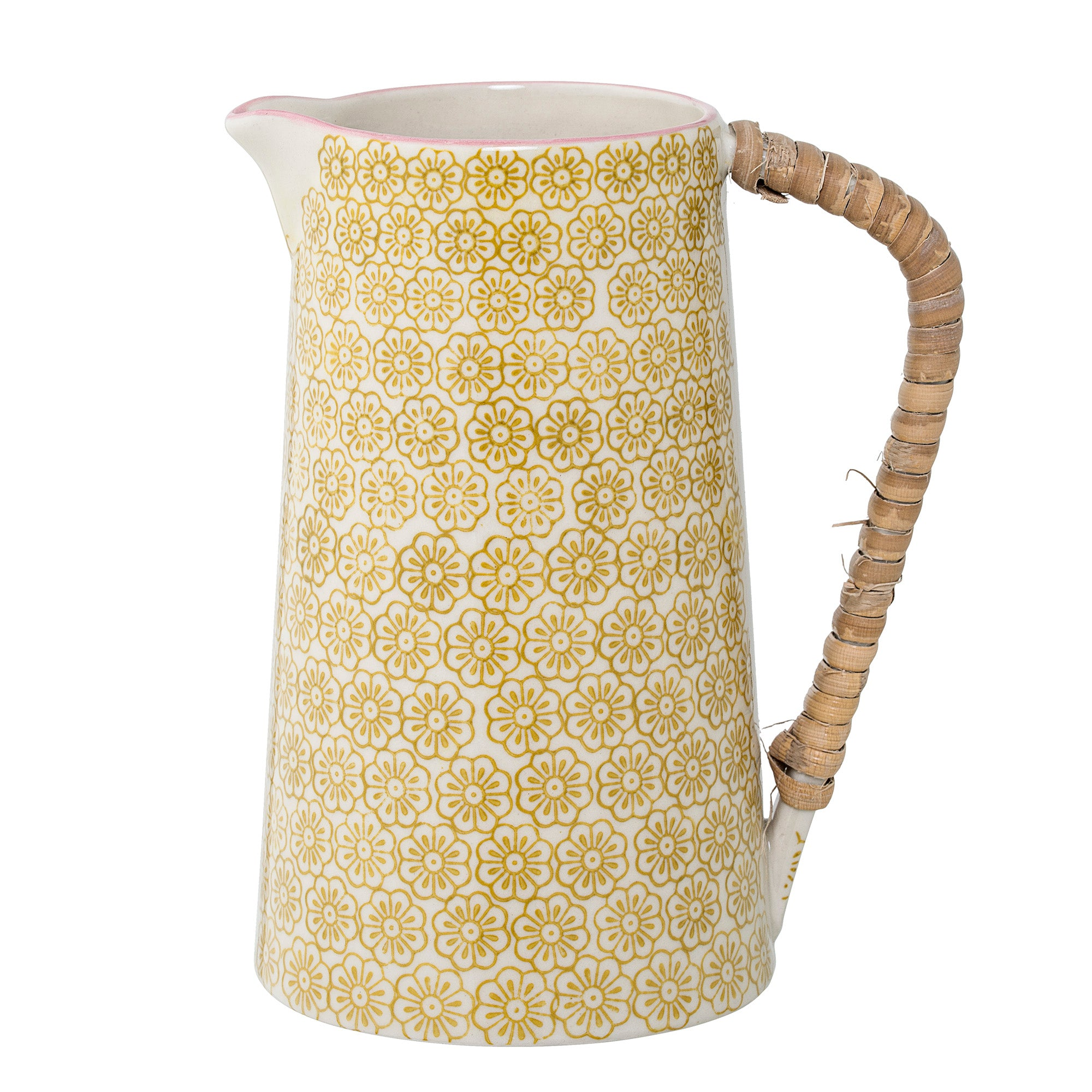 Bloomingville Mustard Susie Jug Homeware- a-fly-went-by.myshopify.com