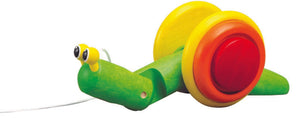 Plan Toys Wooden Pull Along Snail Children- a-fly-went-by.myshopify.com