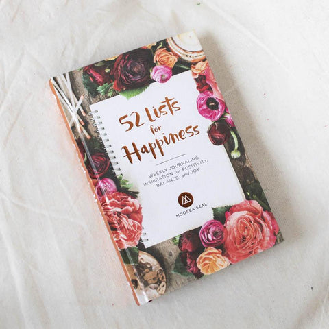 Bookspeed 52 Lists For Happiness Journal Stationery- a-fly-went-by.myshopify.com