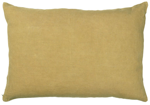 Mustard Linen Cushion Including Feather Pad