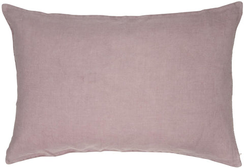 Malva Pink Linen Cushion Including Feather Pad by IB Laursen - A Fly Went By