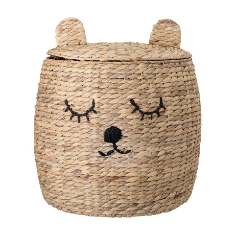 Bloomingville Bear Basket with Lid Homeware- a-fly-went-by.myshopify.com