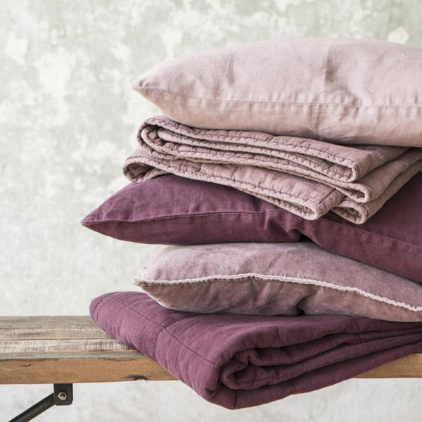 Malva Pink Velvet Cushion Including Feather Pad