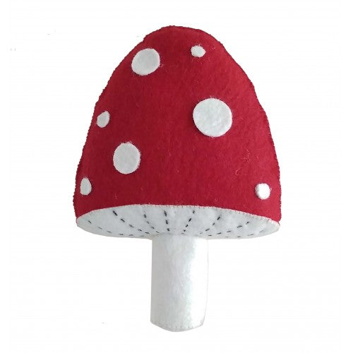 Felted Wool Red and White Mushroom Toadstool Wall Decoration