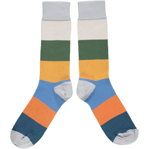 Men's Cotton Colour Block Socks by Catherine Tough - A Fly Went By