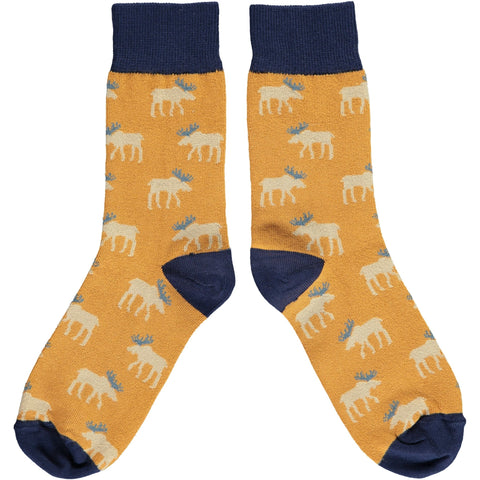 Catherine Tough Women's Cotton Moose Ankle Socks Accessories- a-fly-went-by.myshopify.com