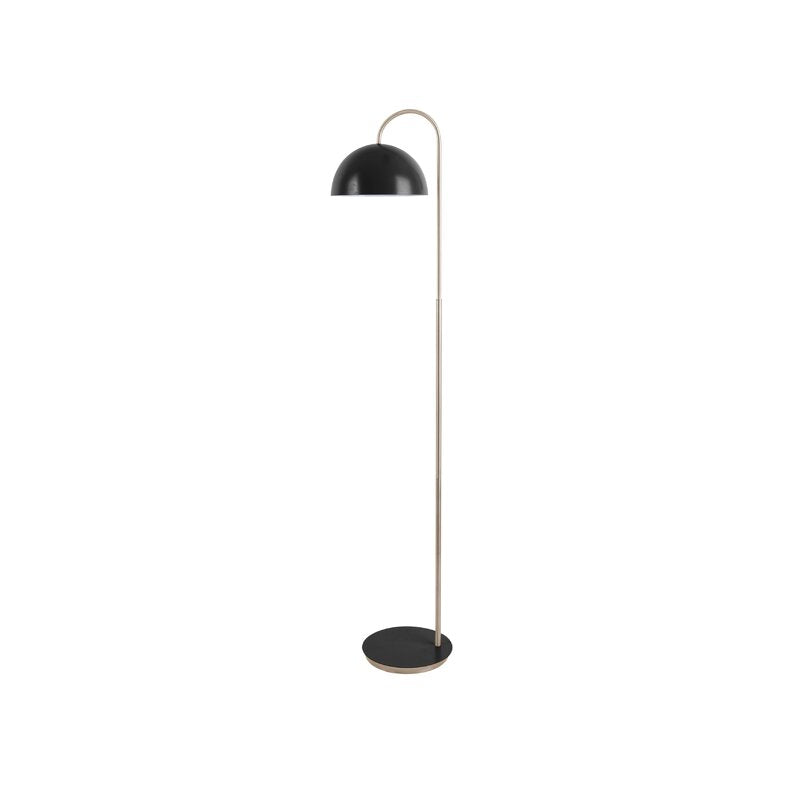 Matt Black Metal Dome Floor Lamp