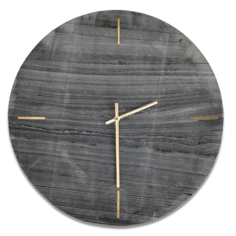 Simple Besa Grey Marble Clock