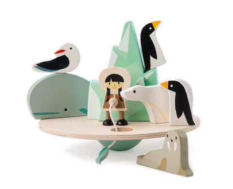 Tender Leaf Toys Wooden Balancing Polar Circle Children- a-fly-went-by.myshopify.com