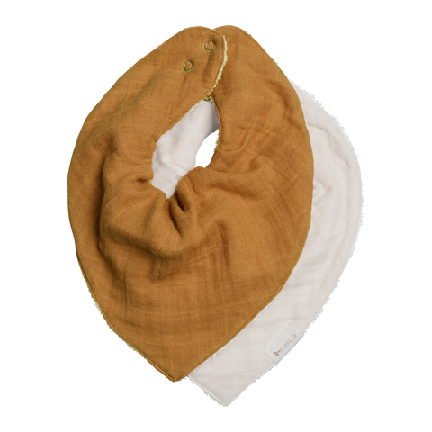 Fabelab Set of 2 Fawn/Off White Bandana Bibs Children- a-fly-went-by.myshopify.com