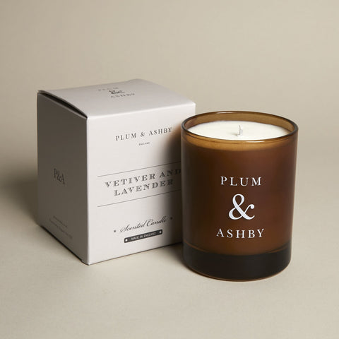 Vetiver & Lavender Recycled Jar Candle by Plum and Ashby - A Fly Went By