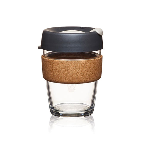 Reusable Cork Brew Cup 12oz Press Grey