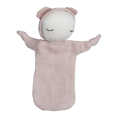 a fly went by fabelab Soft Organic Cotton Pink Cuddle Doll