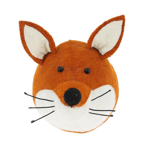 Fabulous Felted Wool Fox Head Wall Hanging