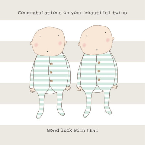 rosie made a thing 'Congratulations On Your Beautiful Twins...' Card