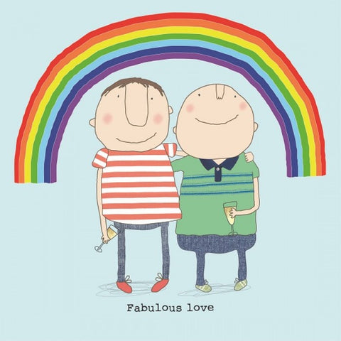 Rosie Made a Thing 'Fabulous Boy Love' Card Stationery- a-fly-went-by.myshopify.com