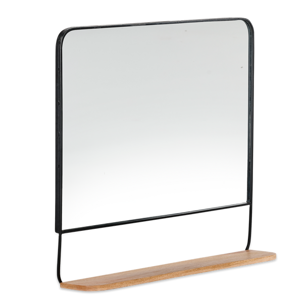 Harni Mango Wood and Metal Mirror