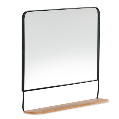 Harni Mango Wood and Metal Mirror by Nkuku - A Fly Went By