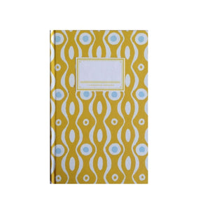 Pretty Teal and Mustard Hardback Notebook