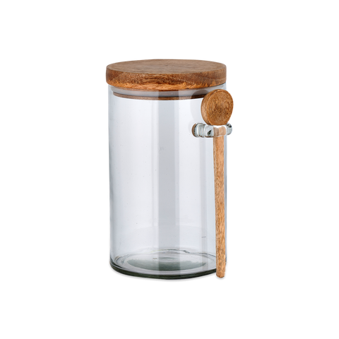 Kossi Storage Jar With Spoon by Nkuku - A Fly Went By