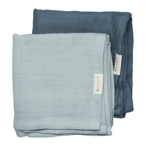 Bloomingville Set of 2 Blue/Spruce Muslin Cloths Children- a-fly-went-by.myshopify.com