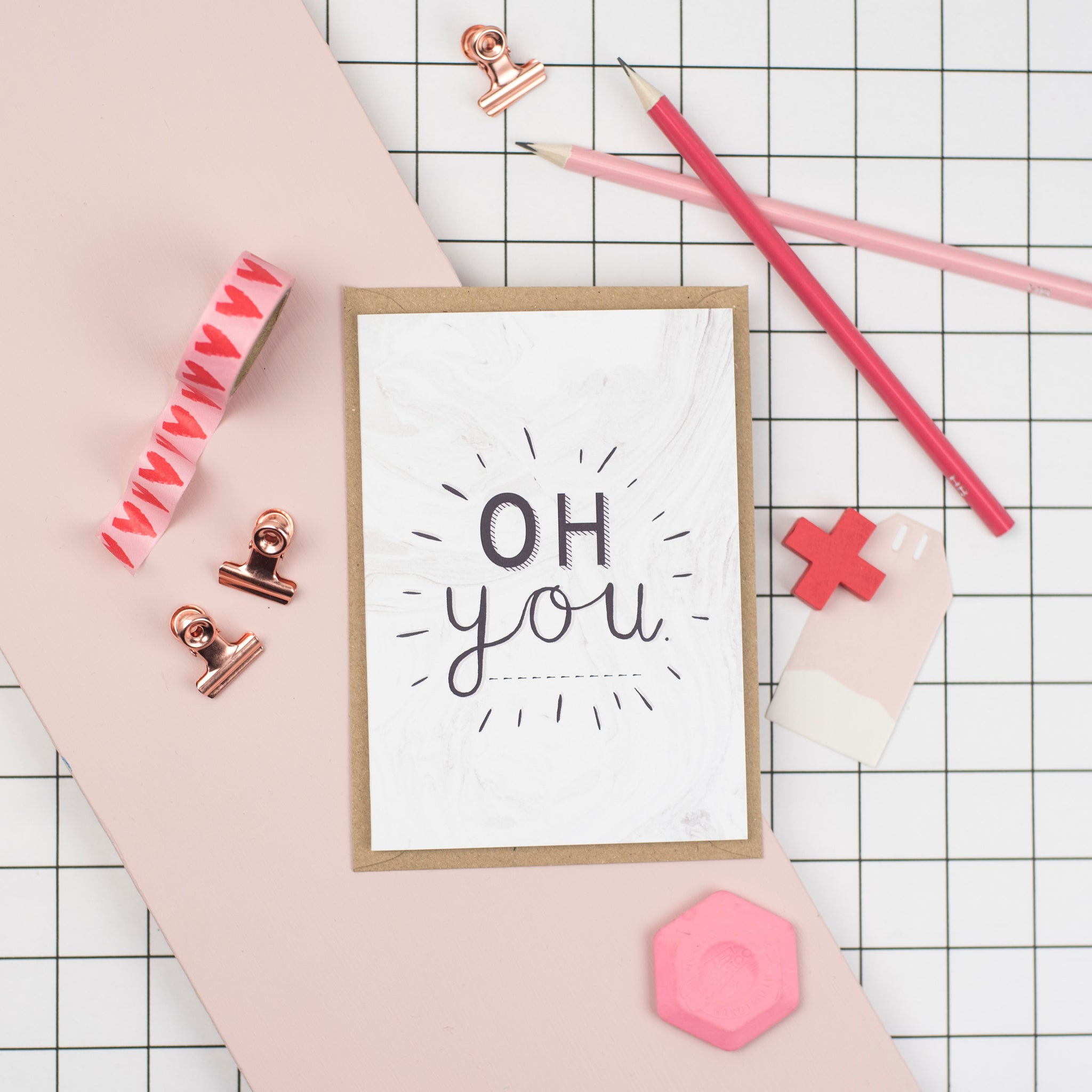 'Oh You' Card by Dainty Forest - A Fly Went By