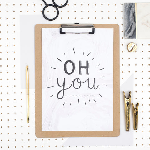'Oh You' A4 Print by Dainty Forest - A Fly Went By