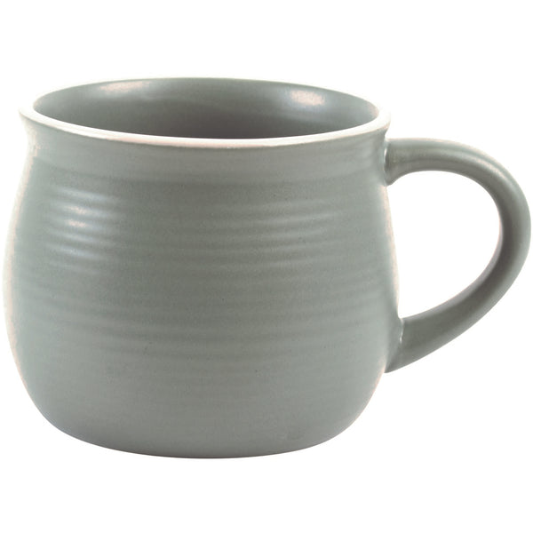 Grand Illusions Set of 4 Laurel Green Stoneware Mugs