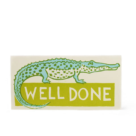 Crocodile 'Well Done' Card