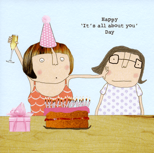 Rosie Made a Thing Happy 'It's All About You Day' Card Stationery- a-fly-went-by.myshopify.com
