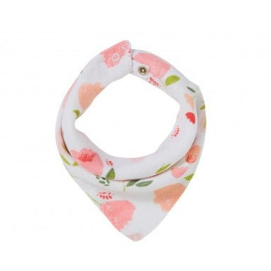 Pretty in Pink Floral Bandana Bib by Angel Dear - A Fly Went By