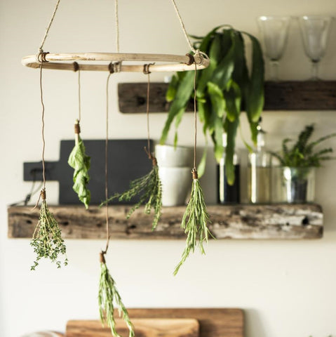 Decorative Bamboo Hanger with Jute String