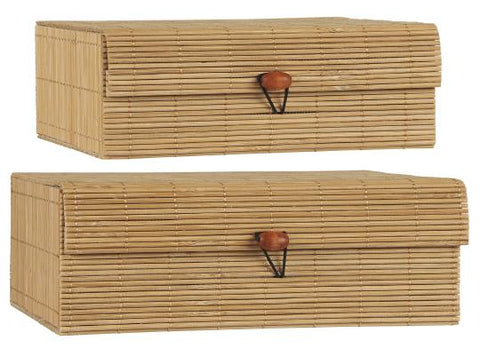 Set of 2 Natural Bamboo Storage Boxes by IB Laursen - A Fly Went By