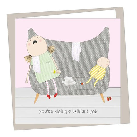 Rosie Made a Thing 'You're Doing a Brilliant Job' Card Stationery- a-fly-went-by.myshopify.com