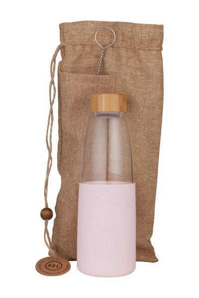 850ml Perfect Pink Glass Water Bottle