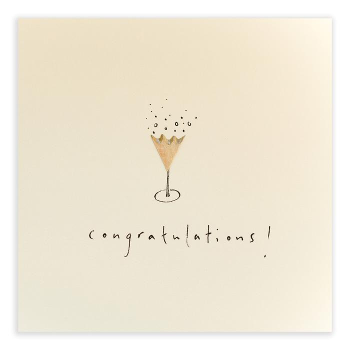 'Congratulations!' Pencil Shavings Card by Ruth Jackson - A Fly Went By