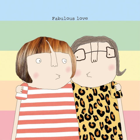 Rosie Made a Thing 'Fabulous Girl Love' Card Stationery- a-fly-went-by.myshopify.com