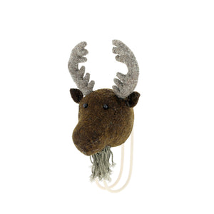 Felted Moose Head Hook