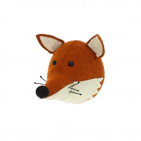 Fiona Walker England Mini Felted Wool Fox Head Children- a-fly-went-by.myshopify.com