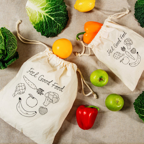 Set of 2 Cotton Fruit and Veg Bags