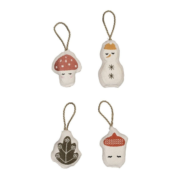 Set of 4 Hanging Forest Tree Decorations by Fabelab - A Fly Went By