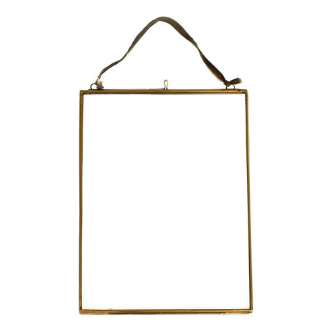 Medium Hanging Brass and Glass Photo Frame by A Fly Went By - A Fly Went By