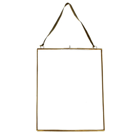 Large Hanging Brass and Glass Photo Frame by A Fly Went By - A Fly Went By