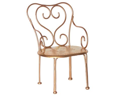 Romantic Gold Metal Chair