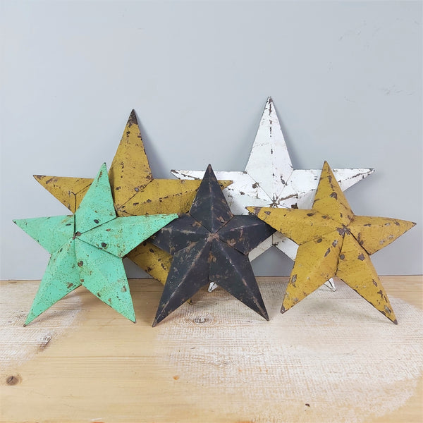 Decorative Vintage Mustard Tin Star