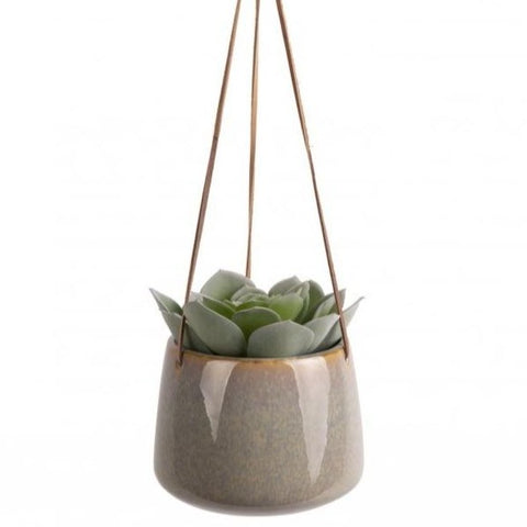 Large Unique Glazed Hanging Plant Pot by PT - A Fly Went By