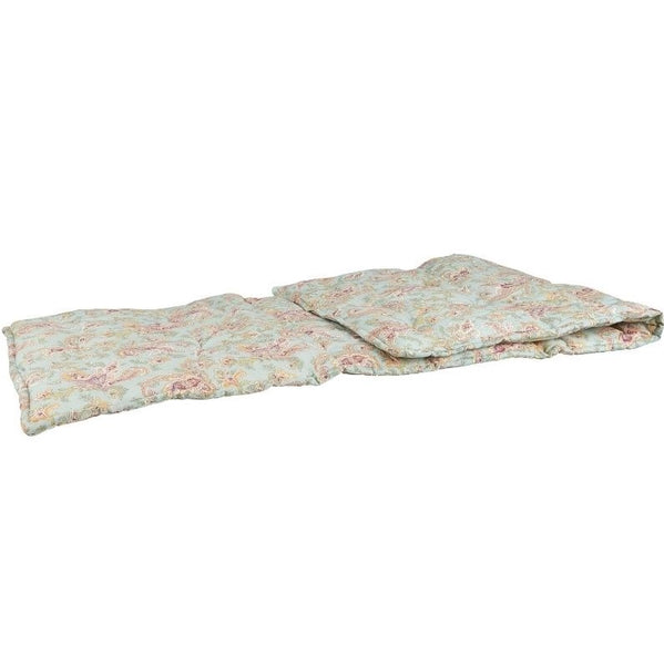 Light Blue Paisley Cotton Cushioned Mattress by IB Laursen - A Fly Went By