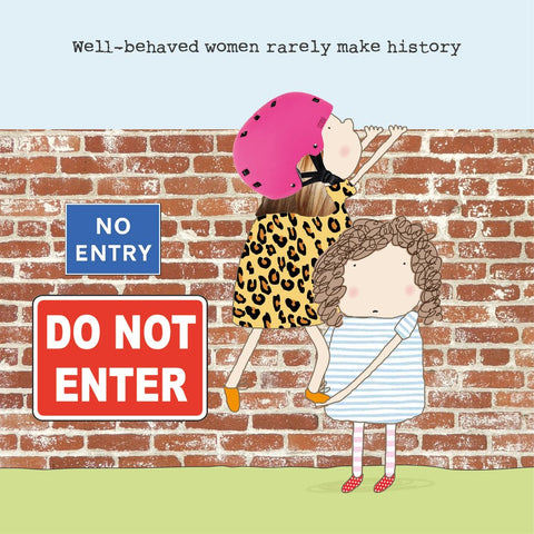 Rosie Made a Thing 'Well-behaved Women Rarely Make History' Card Stationery- a-fly-went-by.myshopify.com