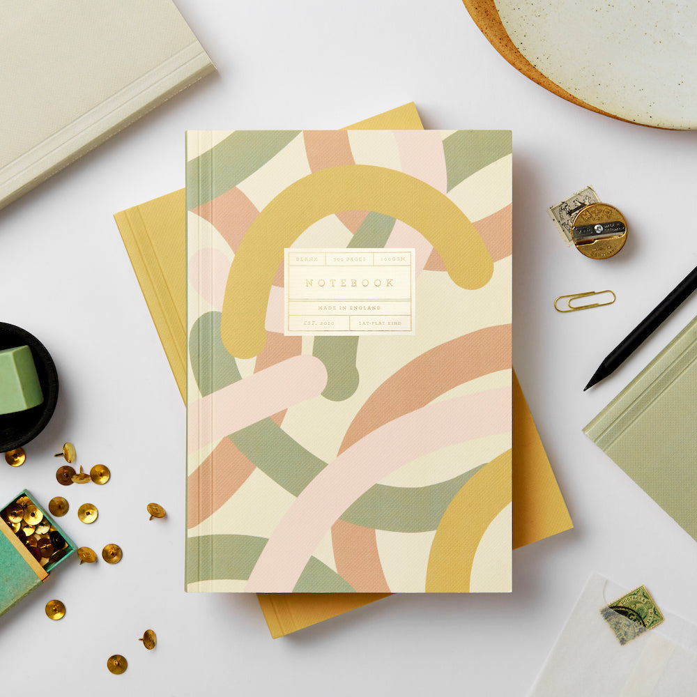 Katie Leamon Beautiful Mallow Notebook Stationery- a-fly-went-by.myshopify.com