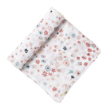 Pretty Meadow Muslin Baby Swaddle